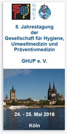 GHUP-Jahrestagung 2016 in Köln